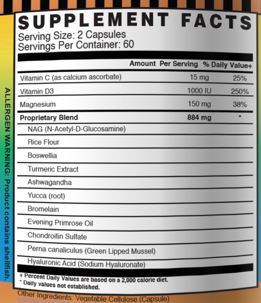 flexprotex d supplement facts dailyhealth turmeric boswellia glucosamine hyaluronic acid