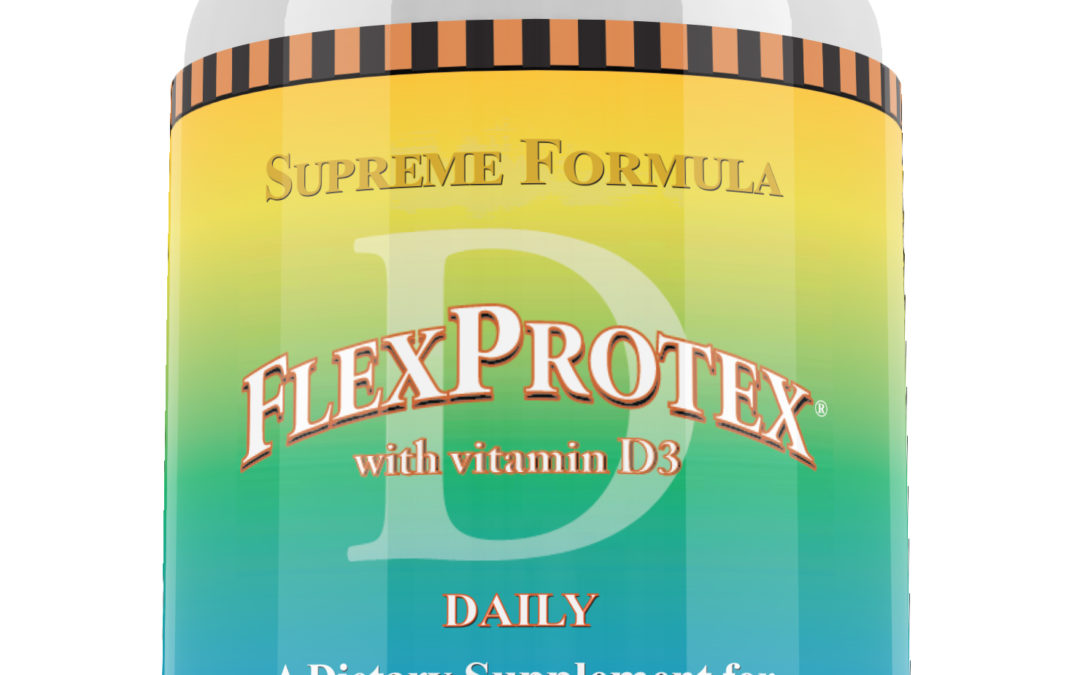 FlexProtex D Daily 884mg Original Natural Joint Pain Relief Support Supplement 120 capsules