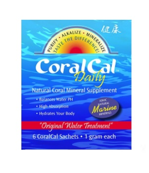 coralcal daily sachet tea bag marine calcium okinawa japan kosher certified