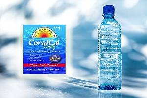 coralcal daily sachet water bottle alkalize teabags