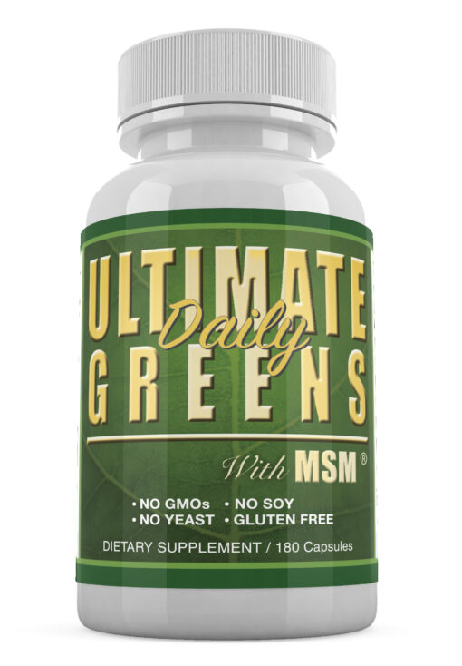 Ultimate daily greens with msm green superfood vegetable capsules alkalize ph balance