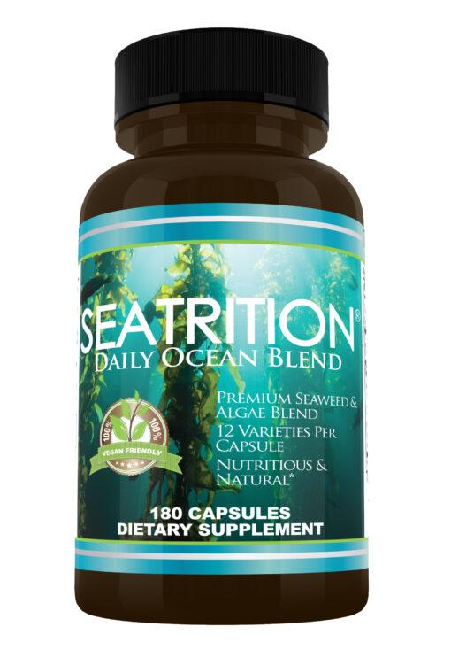 Seatrition Daily Ocean Blend sea vegetable 12 seaweed capsules