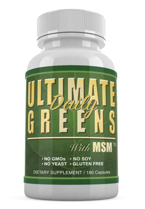 Ultimate Daily Greens with MSM no gmo yeast or soy gluten free vegan friendly