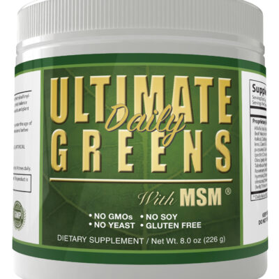 ultimate daily greens with msm super food powder drink gluten free