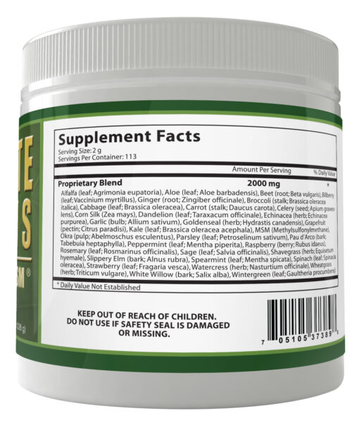ultimate daily greens with msm powder supplements facts natural ingredients