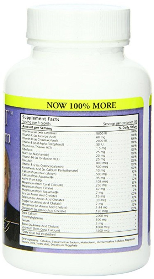 bobs best coral calcium supplement facts vitamins minerals