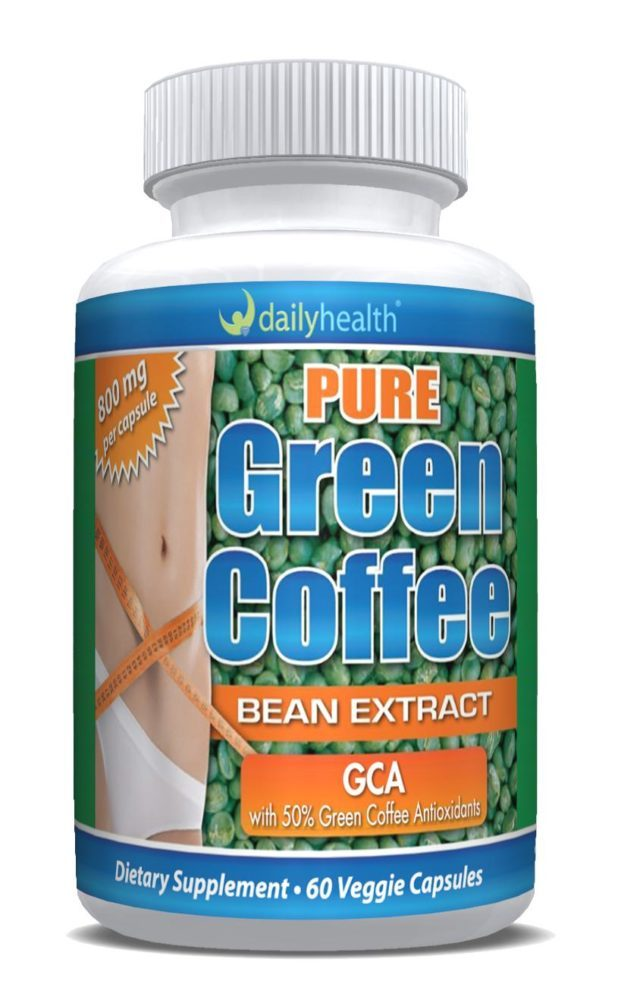 Pure Green Coffee Bean Extract Gca 800mg 60 Capsules