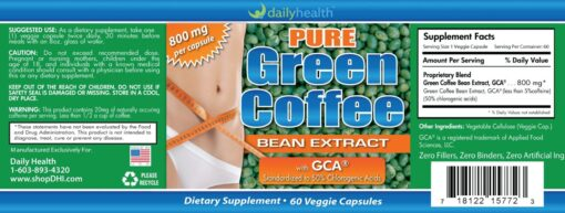 pure green coffee bean gca weight loss pill capsule