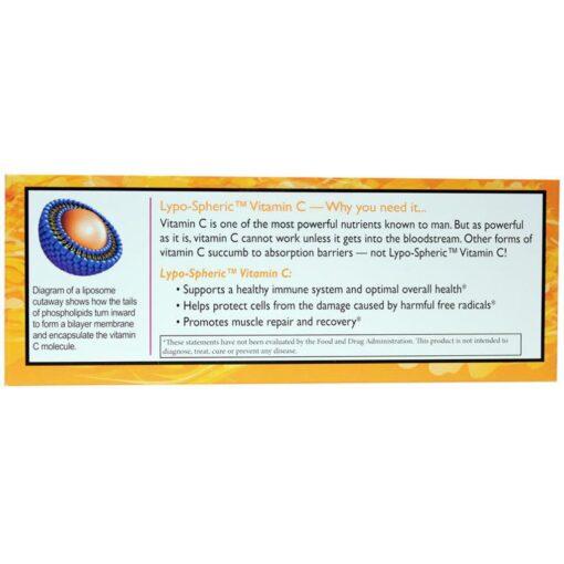 Lypo-Spheric Vitamin C directions immune system