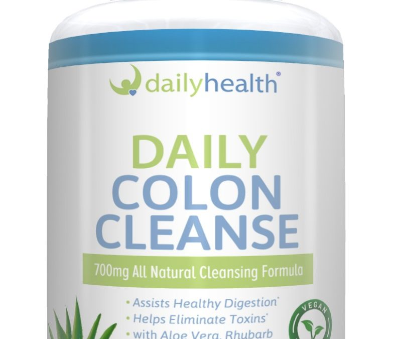 Daily Colon Cleanse 700mg All Natural 10 Herbs, Fiber & Calcium 60 Vegetable Capsules